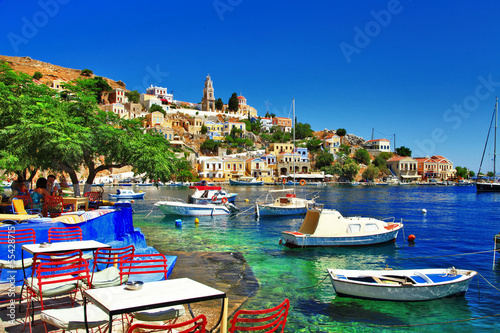 canvas print picture Greek holidays. Symi island