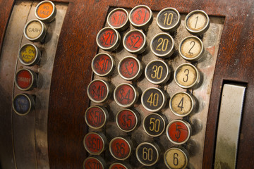 Antique Cash Register Buttons