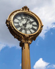 Historic Fifth Avenue cast iron clock NYC