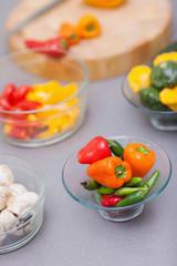 Close up of pimentos