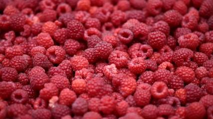Raspberry fruits background