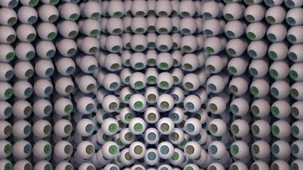 Wall of eyeballs