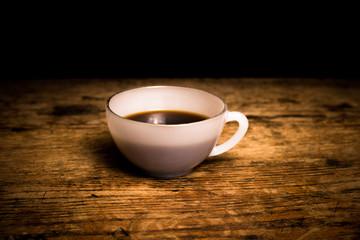 Freshly brewed cup of coffee