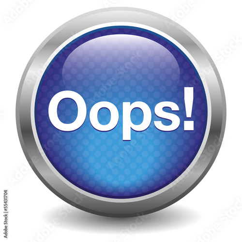 Blue Oops button