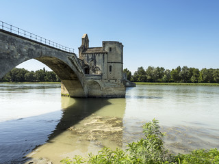 Rear view of Avignon Bridge