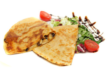 Steak Quesadilla - restaurant food, mexican cuisine