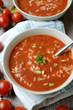 Reis-Tomaten-Suppe