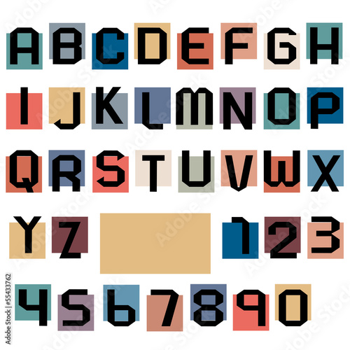 Alphabet letters and numbers