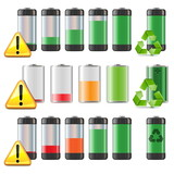Vector Battery Icons Set