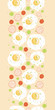 Vector eggs for breakfast vertical seamless pattern background