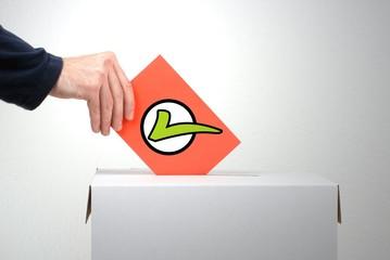Zustimmung - Stimmen Sie mit Ja