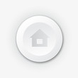 White plastic button with house