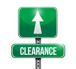 clearance road sign illustration design