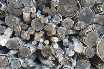 catasta legno taglio riciclaggio