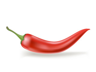 red hot chili pepper on white