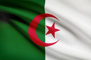 Series of ruffled flags. Algeria.