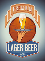 Premium lager beer
