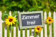 canvas print picture - zimmer frei