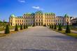 Schloss Belvedere am Abend, Wien