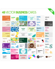 48 Vector Business Cards