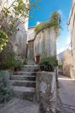 Beautiful mediterranean old stairs in Vrbnik Town Croatia