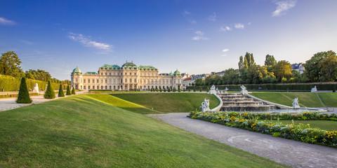 Panorama vom Unteren Belvedere, Wien