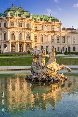 Brunnen am Schloss Belvedere