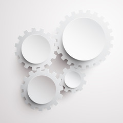 Abstract white gears