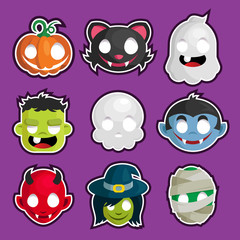 Halloween Head Stickers