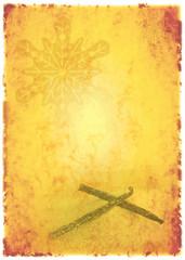 vanillezucker auf altem briefpapier