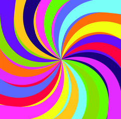 Hypno rainbow abstract