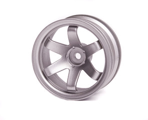 RC silver rim (Volk Racing) isolated on white background