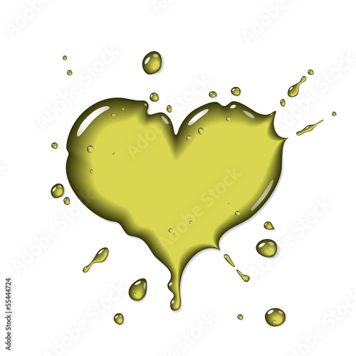 Olive oil splash