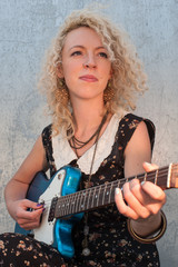 guitar girl portrait