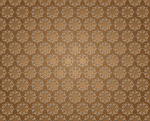 Floral abstract background brown