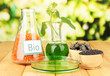 Conceptual photo of bio fuel.  On bright background