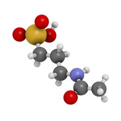 Acamprosate alcoholism treatment drug, chemical structure.