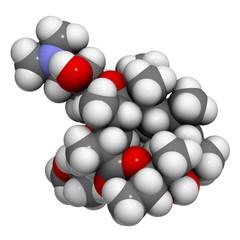 Clarithromycin antibiotic drug (macrolide class)