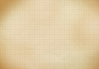 Blank millimeter old graph paper grid sheet background or textur