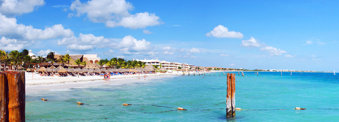 Beach view in Mexico