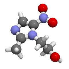 Metronidazole antibiotic drug (nitroimidazole class)