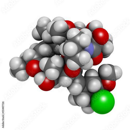 pimecrolimus eczema (atopic dermatitis) drug, chemical structure