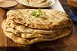 Homemade Indian Naan Flatbread - 55448320