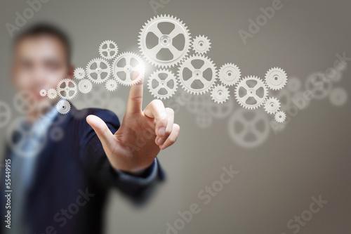 Leinwandbild Motiv Business structure