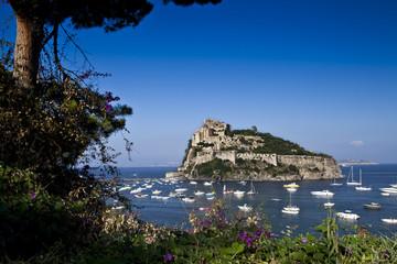 Aragonese castle Ischia island  Italy