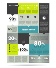 Sale diagram for infographics.