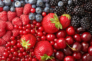 various berries background
