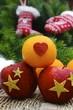 Obst in der Weihnachtszeit