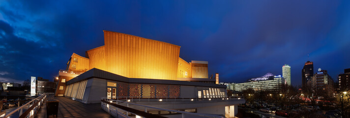 Panorama of Berlin's philharmonic hall