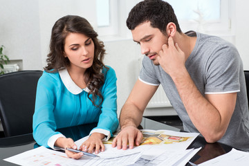 couple is considering future apartment design